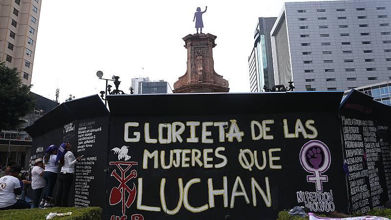La estatua de Cristóbal Colón desaparece de Ciudad de México
