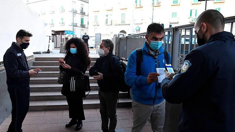 Italia estrena el certificado COVID obligatorio para los trabajadores entre controles policiales y protestas