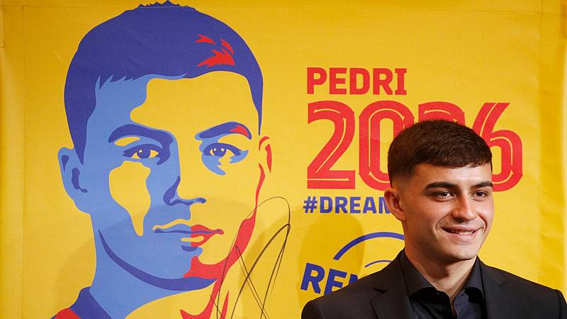 Pedri renueva con el Barça hasta 2026 con una cláusula de 1.000 millones