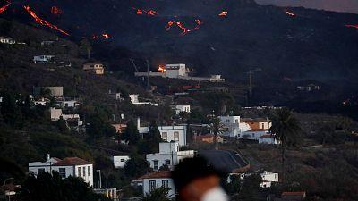 La lava se paraliza en La Laguna, donde ha destruido más de 60 viviendas