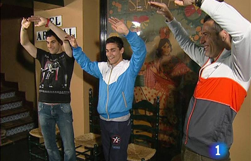 Futbolistas con arte flamenco