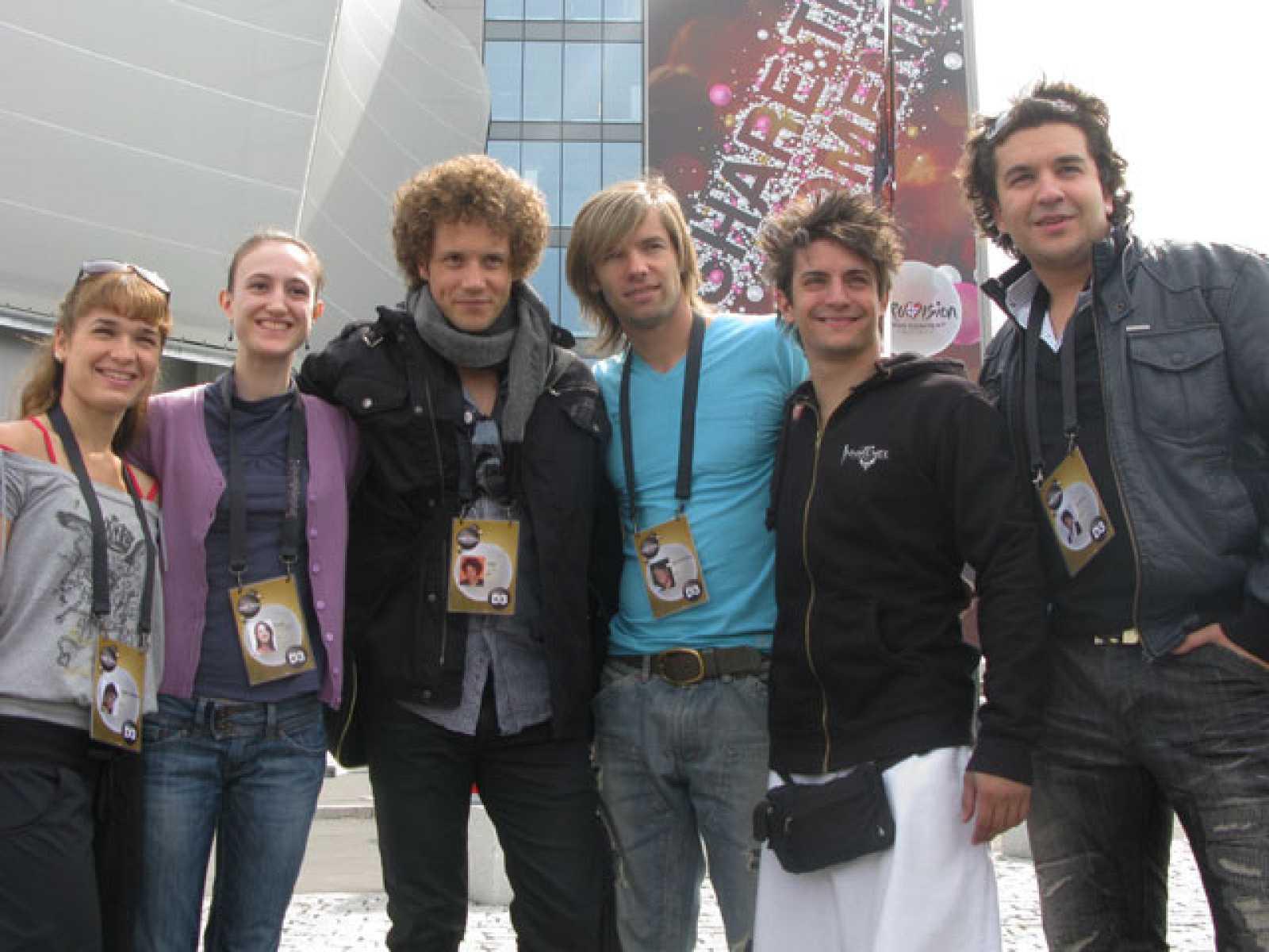 Eurovisión 2010 - Backstage del primer ensayo