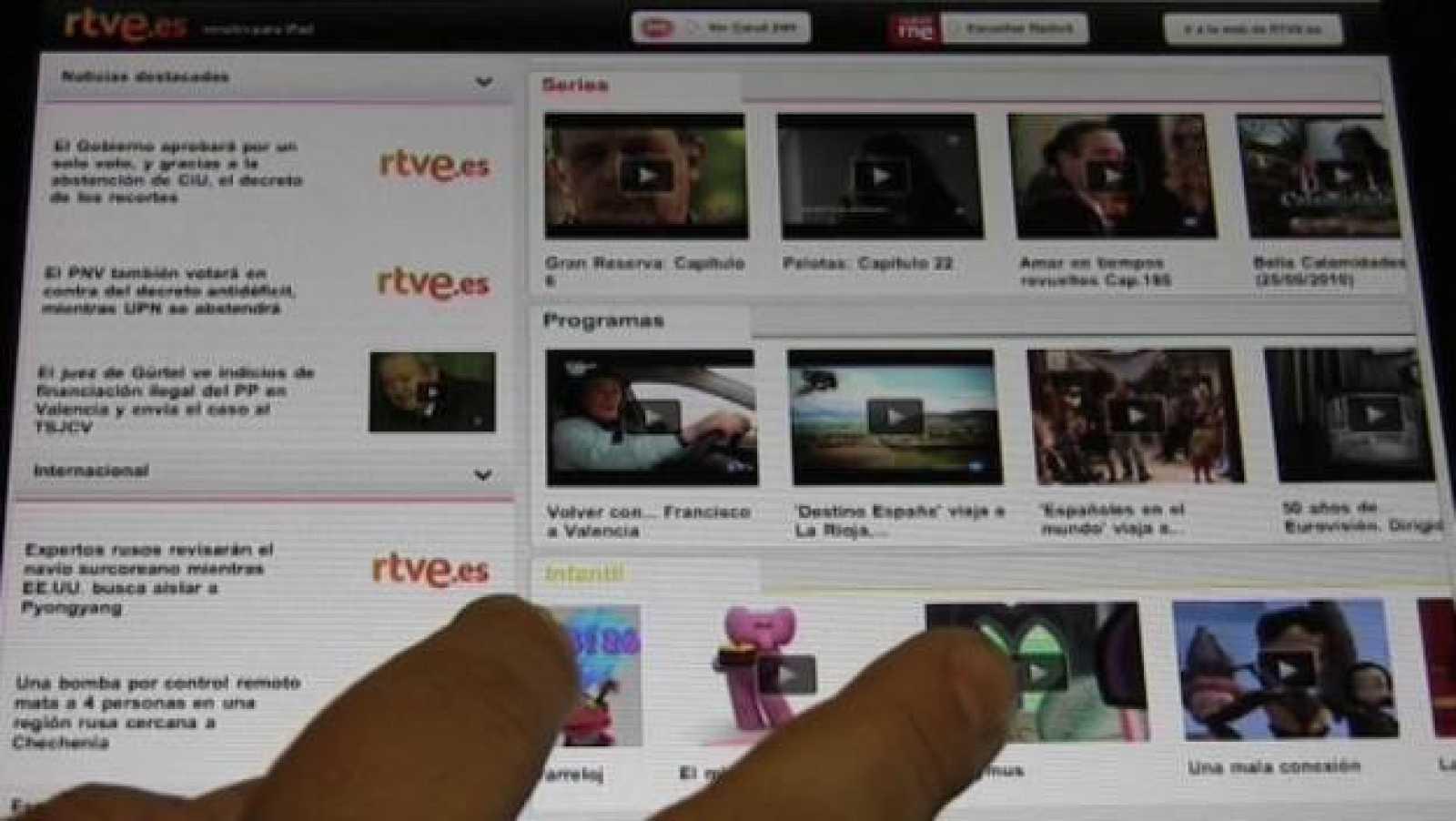 Repaso de algunas de las aplicaciones más interesantes para ver vídeos en el nuevo 'tablet' de Apple. (VÍDEO: Jonan Basterra)