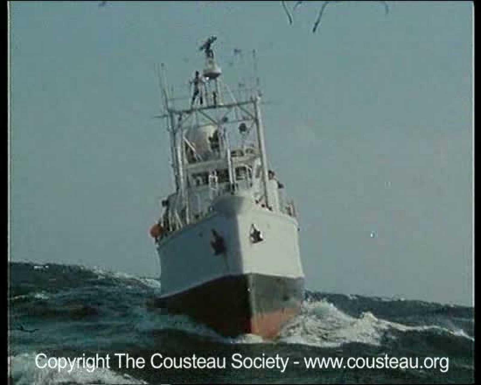 El 'Calypso', uno de los barcos míticos de las expediciones del capitán Cousteau