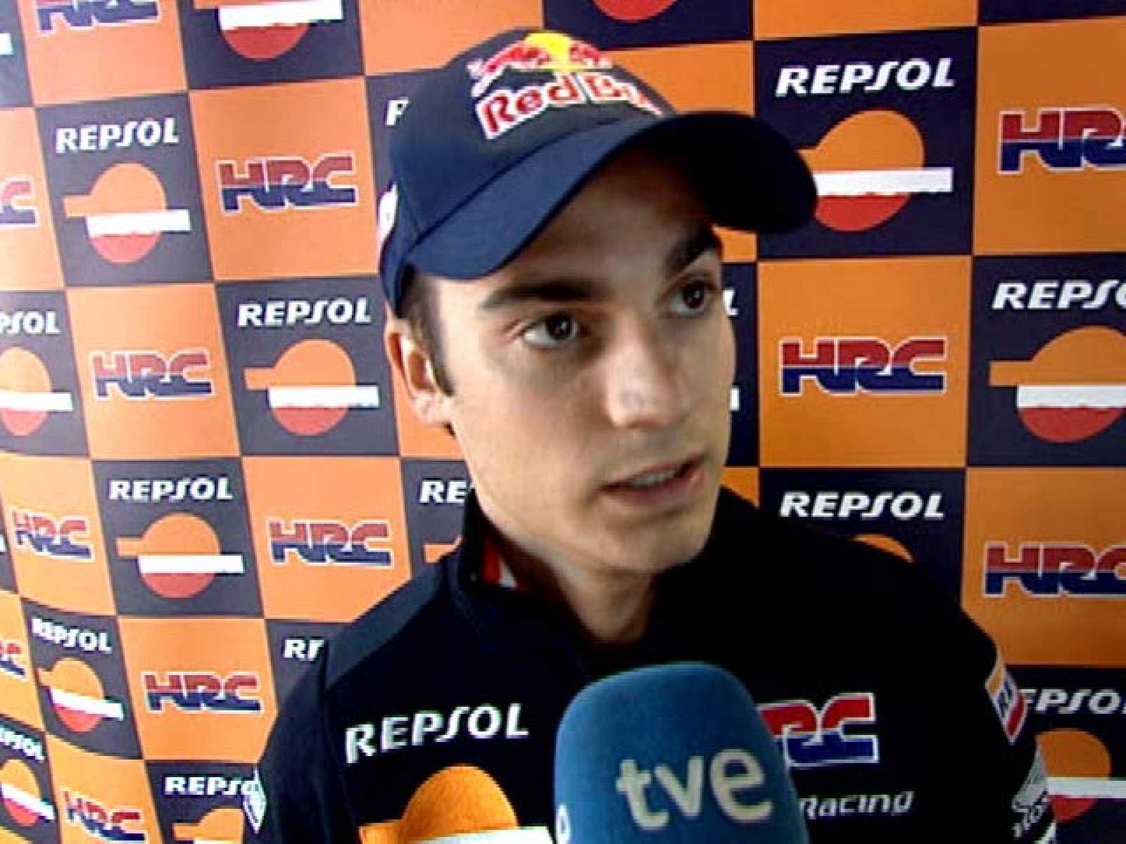 Dani Pedrosa muestra su decepción por la carrera de Silverstone, en la que ha finalizado octavo.