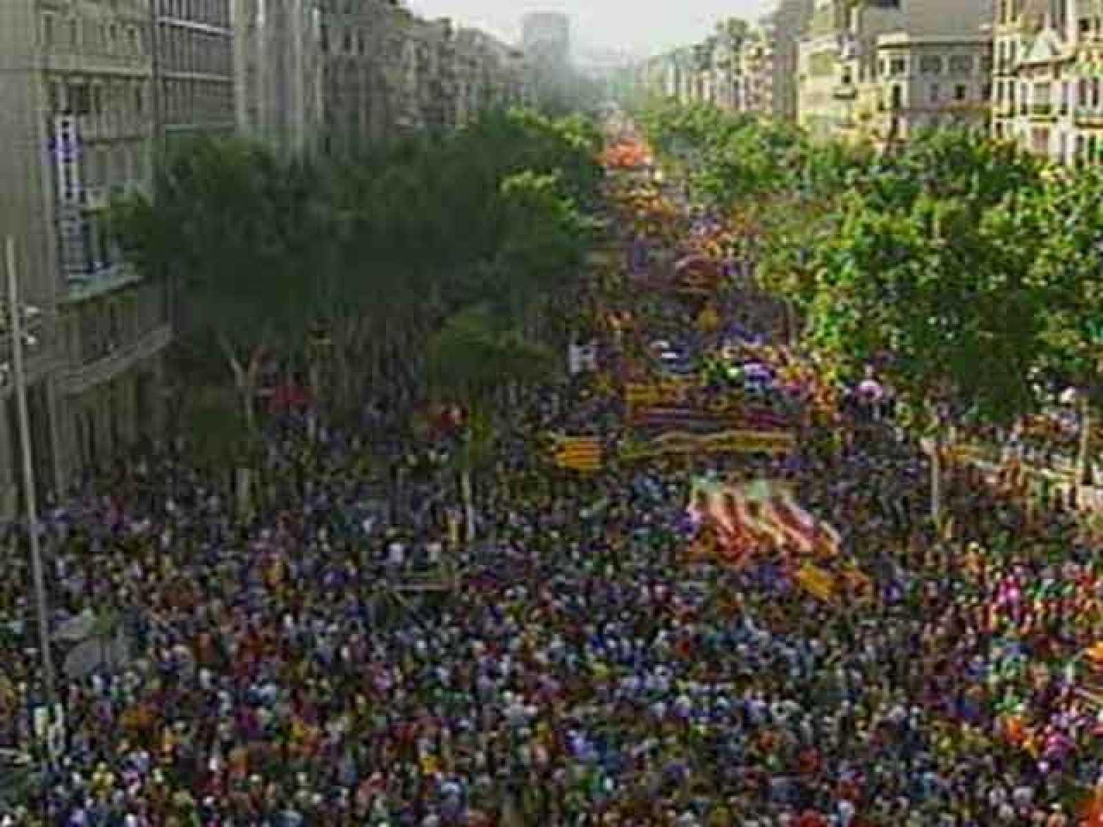 Manifestación en Barcelona contra la sentencia del Constitucional