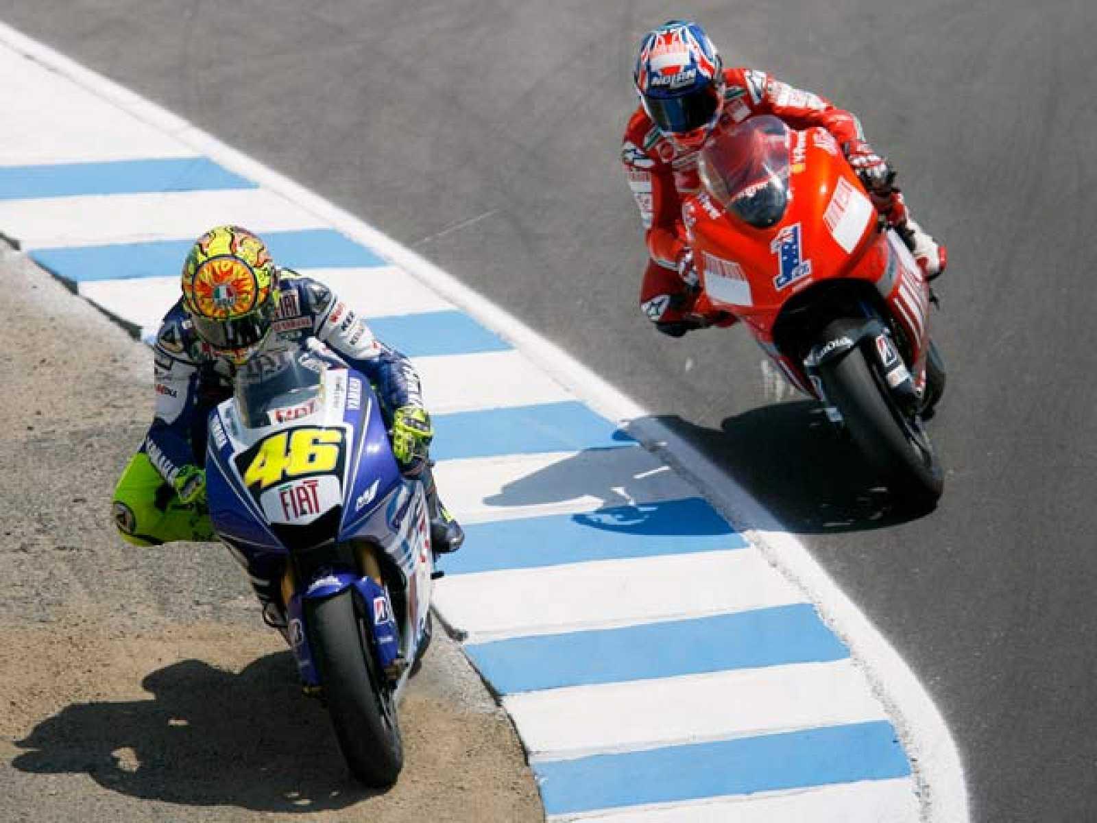 El Mundial de MotoGP llega al circuito de Laguna Seca, con su mítica curva 'sacacorchos'.