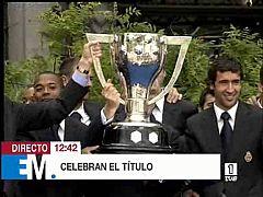 Esta mañana - El equipo del Madrid celebra su título de Liga