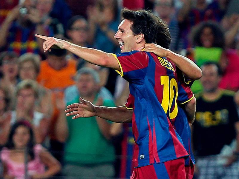 Segundo gol culé a cargo de Messi que se plantó sólo delante de Palop gracias a un pase magistral de Xavi.