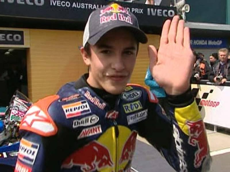 Después de conseguir en Australia su novena victoria de la temporada, Marc Márquez espera rematar la faena en las dos últimas carreras.
