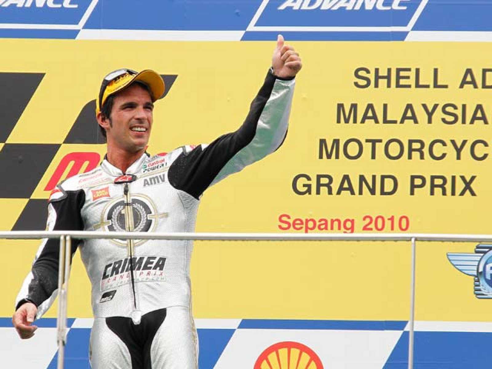 El piloto español Toni Elías se convirtió en el primer campeón del mundo de la categoría de Moto2.