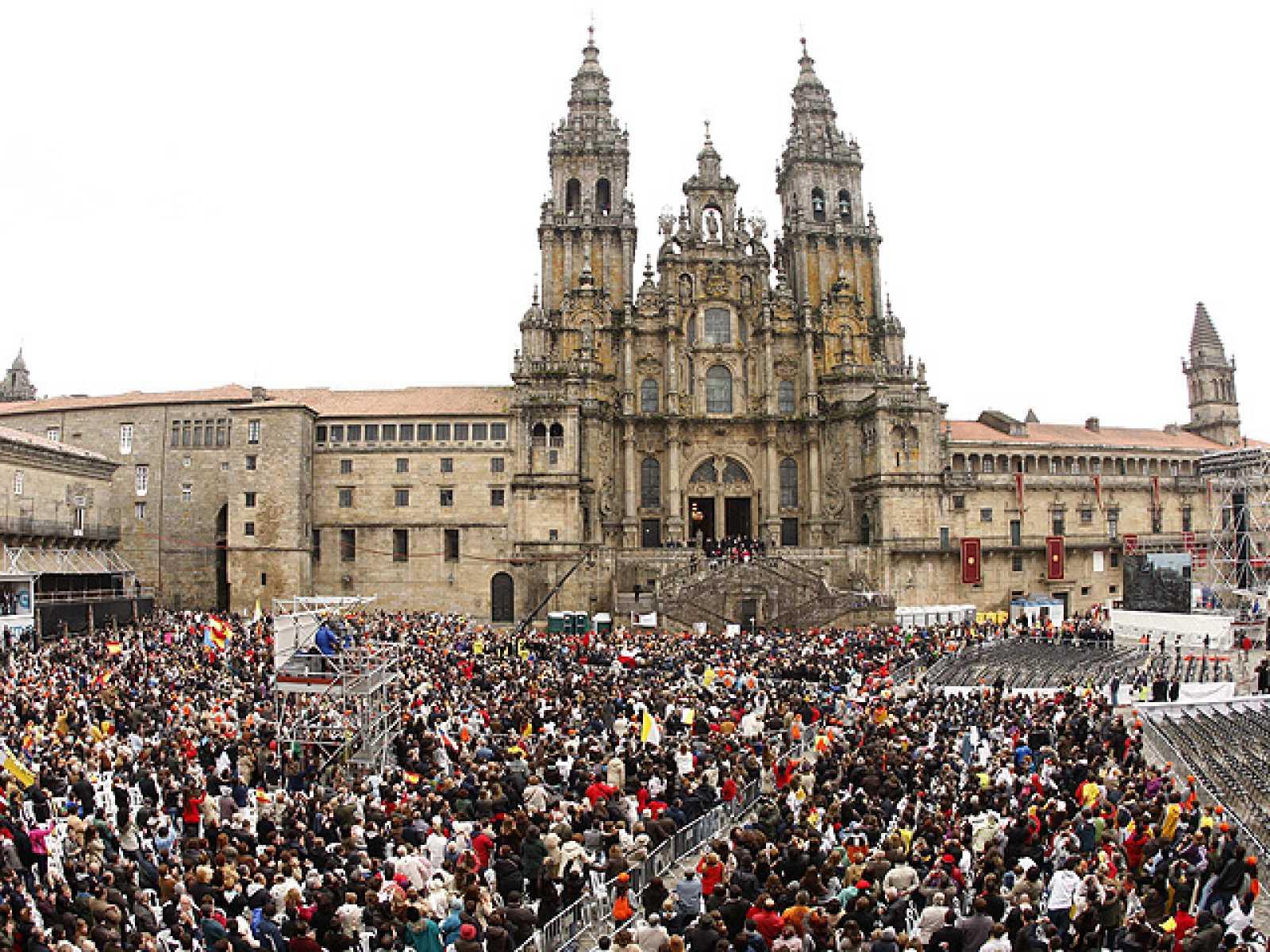 Santiago en vela para esperar al Papa