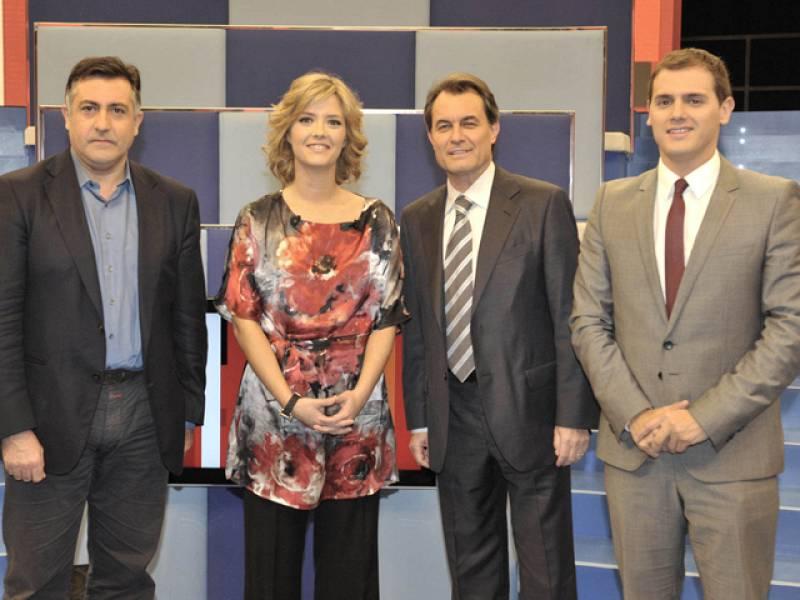 Artur Mas, Joan Puigcercós y Albert Rivera en 'Tengo una pregunta para usted'