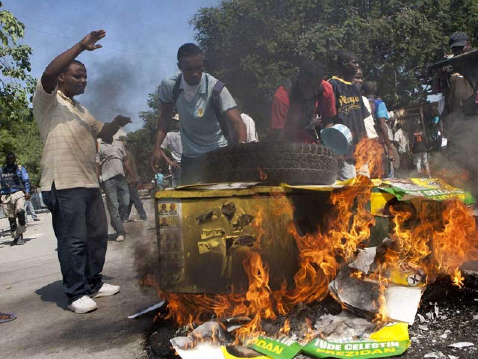Las protestas contra los cascos azules llegan a la capital de Haití