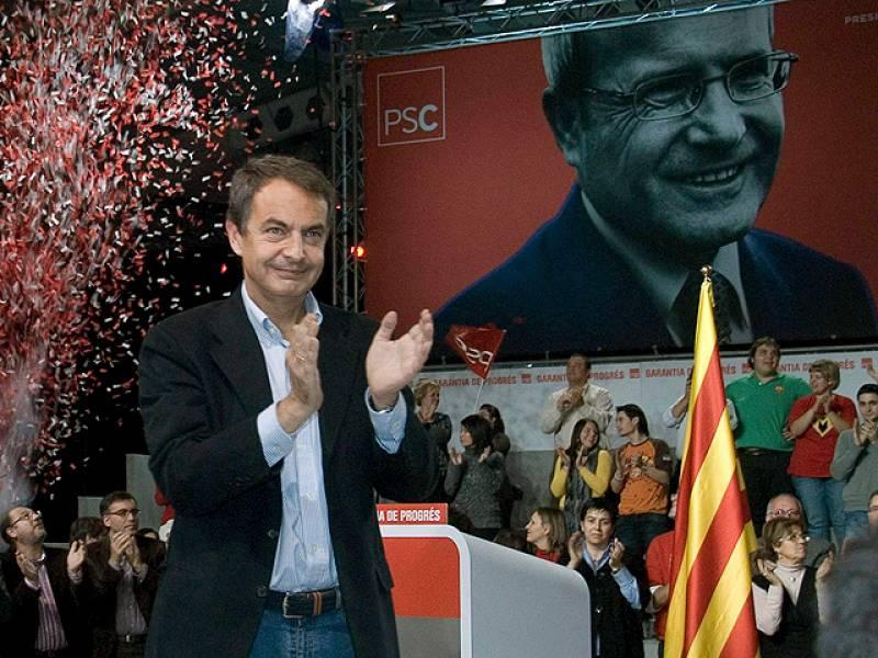Zapatero critica a Mas por no debatir con Montilla