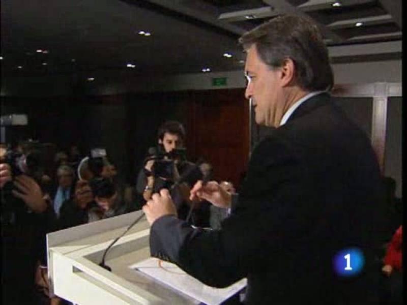 Mas dice que Cataluña es menos segura por el tripartito y el PP critica su propuesta de concierto económico