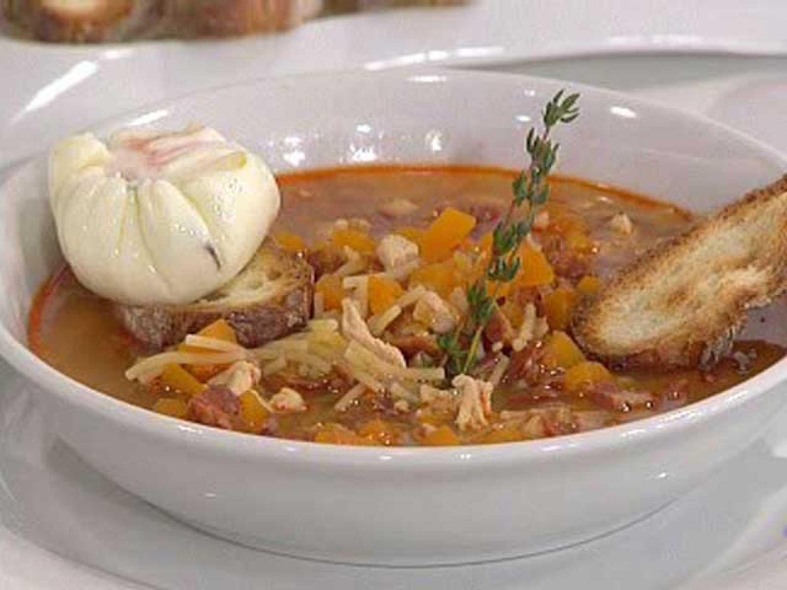 Sopa castellana con huevos (30/11/10)
