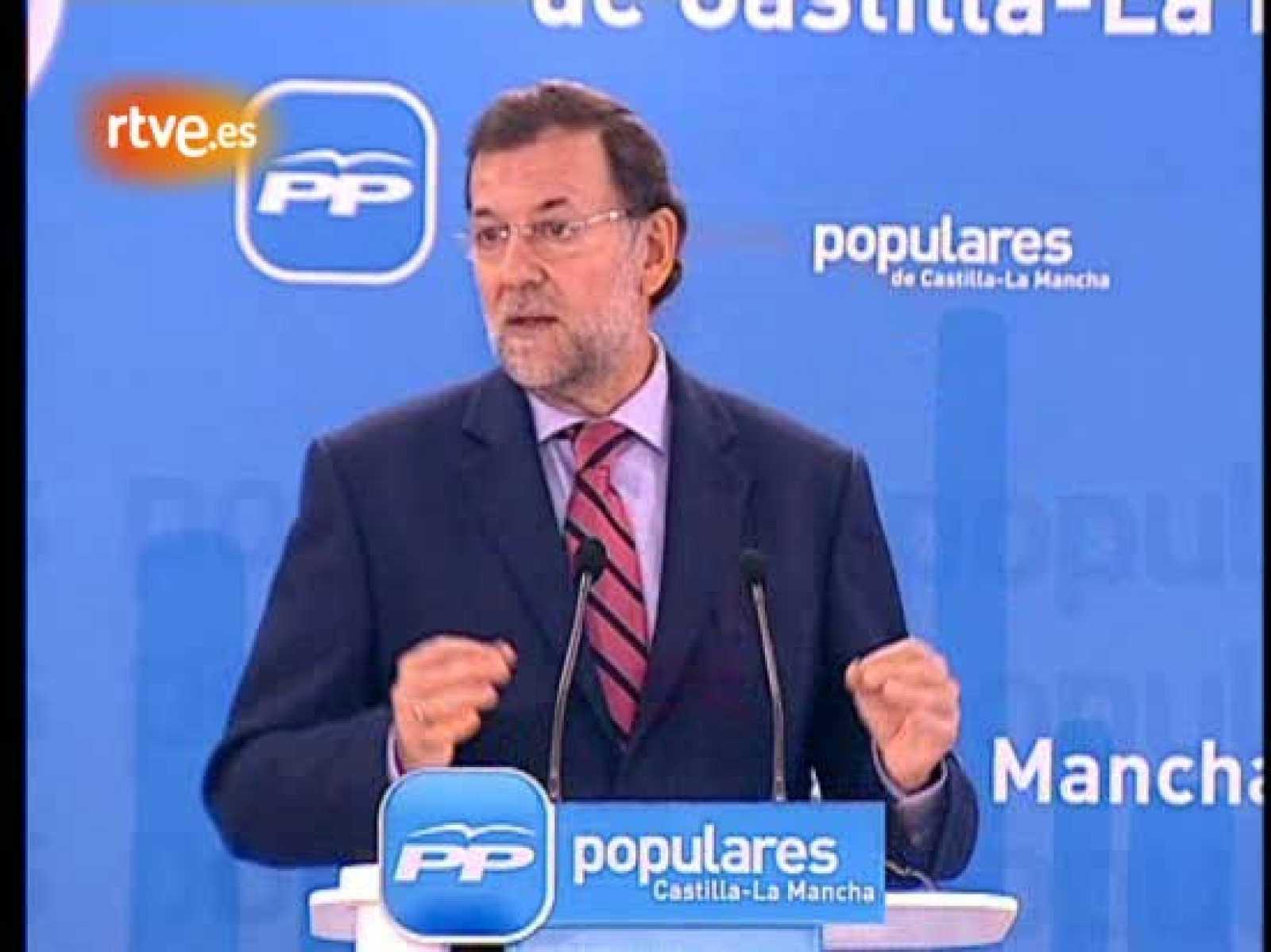 El presidente del Partido Popular, Mariano Rajoy, ha hablado durante la Junta directiva del PP celebrada en Castilla-La Mancha sobre la denominada ley Sinde, que el pasado 21 de diciembre fue rechazada en el Congreso al quedarse el PSOE sin apoyos