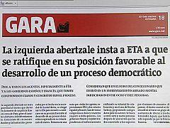 El comunicado de ETA llega cuando la banda terrorista atraviesa sus horas más bajas